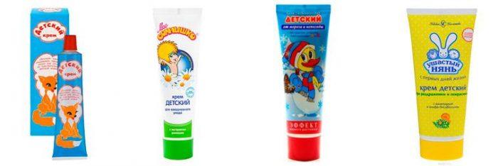 Существует множество разновидностей детского крема