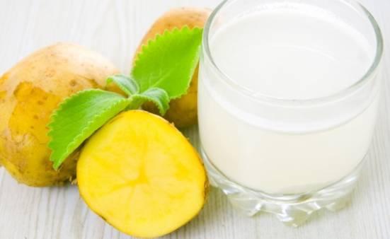 Картофельный сок при лечении гастрита