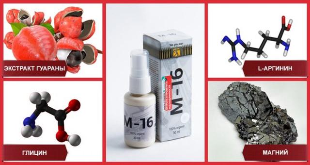 Спрей М16 — средство для улучшения потенции