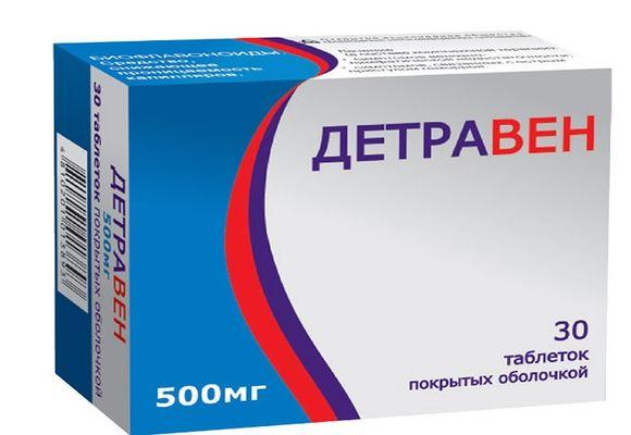 Таблетки Детравен: инструкция по применению