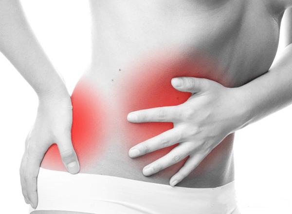 Опоясывающая боль в области желудка и спины