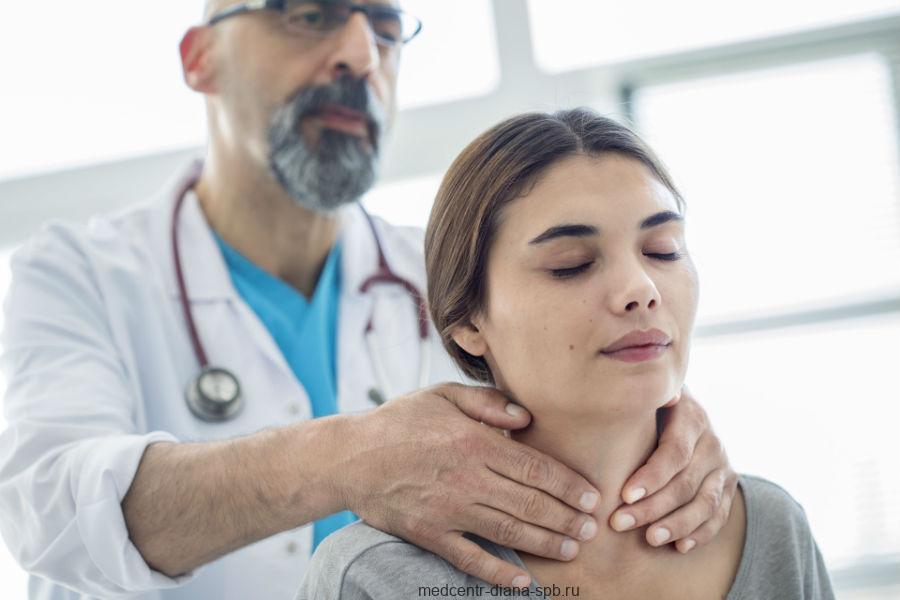 Первичное обследование щитовидной железы