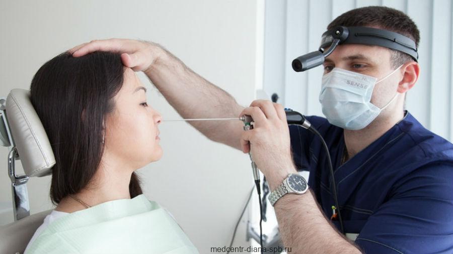 Эндоскопическое обследование носа