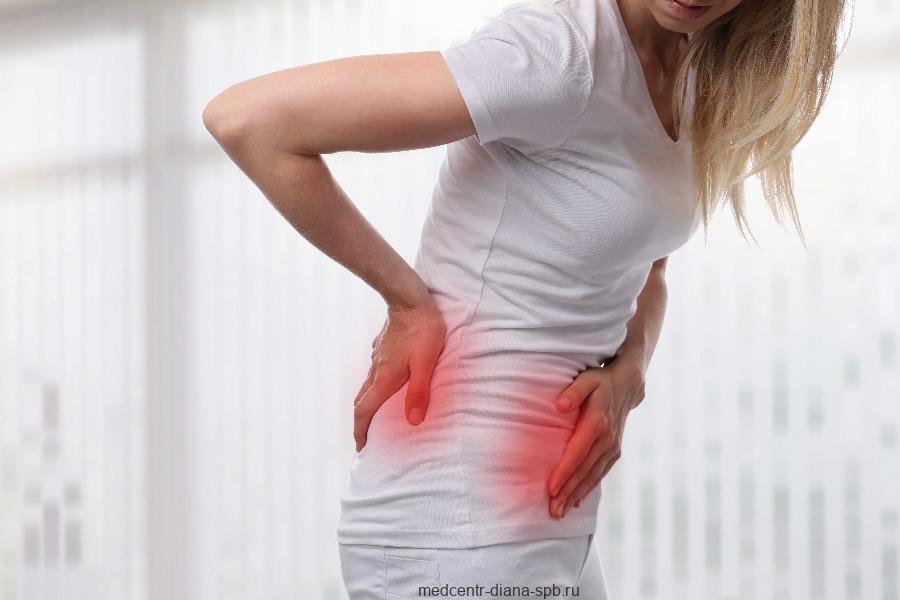 Менструальная боль в области низа живота и поясницы