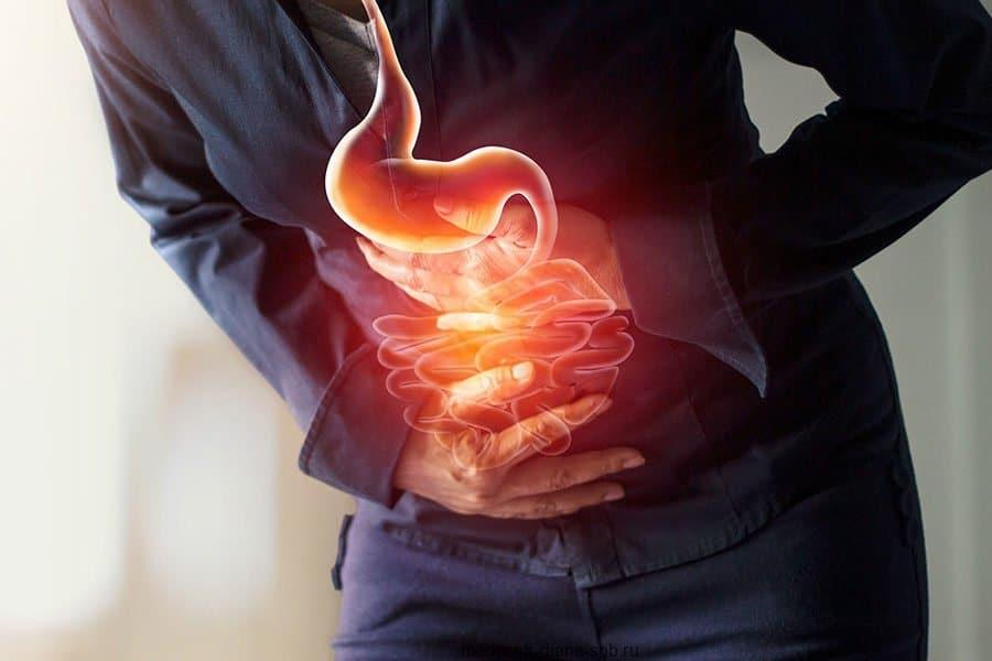 Симптомы заболеваний ЖКТ — боль в горле и груди